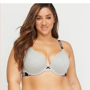 Cacique cotton boost plunge bra